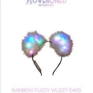 Flower Child Revolution Fuzzy Wuzzy Light Up Ears